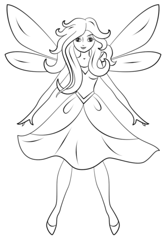 Beautiful Fairy coloring page