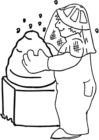 Bee Hive  coloring page