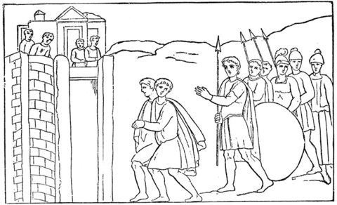Rahab Hides the Spies coloring page - Free Printable Coloring Pages