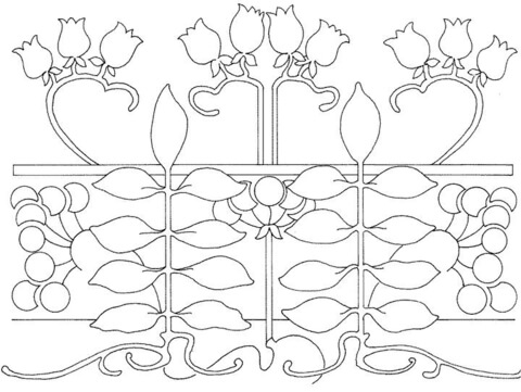 Bellflower Pattern  coloring page