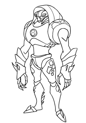 Ben 10 Water Hazard coloring page - Free Printable Coloring Pages