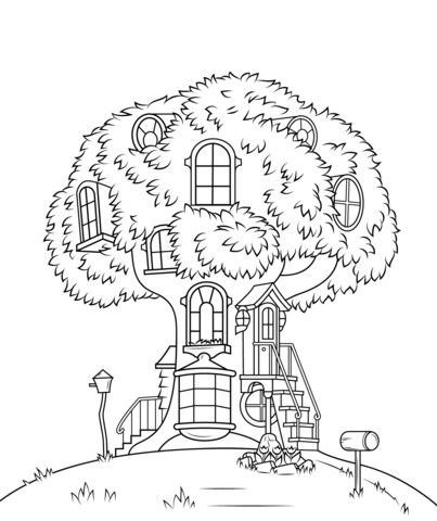 Berenstain Bears Treehouse coloring page