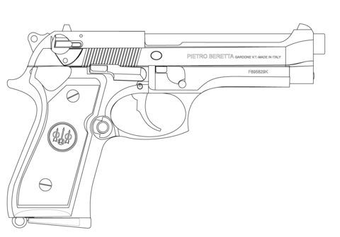 Fn Scar Assault Rifle Coloring Page Free Printable Coloring Pages
