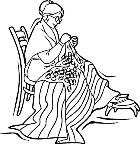 photo regarding Betsy Ross Printable Pictures called Betsy Ross coloring website page - Absolutely free Printable Coloring Internet pages