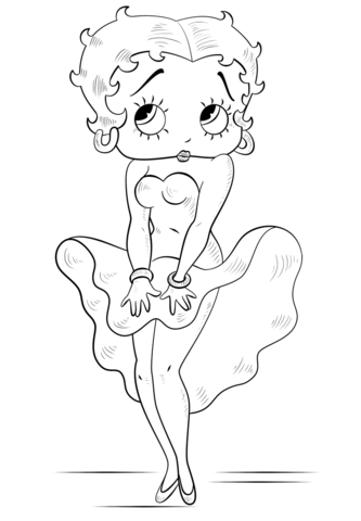 Betty Boop coloring page