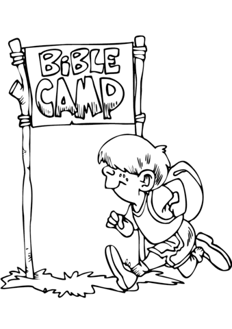 Bible Camp coloring page