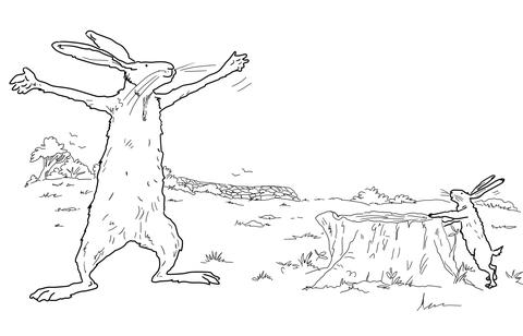 Big Nutbrown Hare Had Even Longer Arms coloring page
