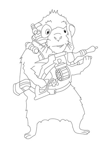 Blaster  coloring page