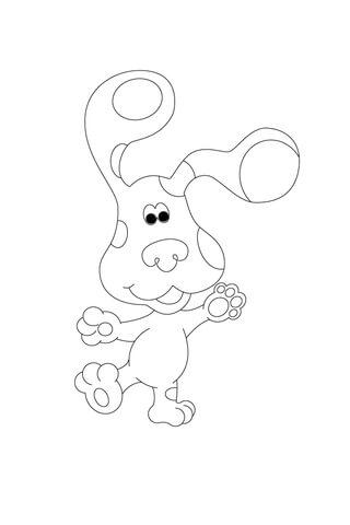 Blue Is Balancing On One Leg! coloring page