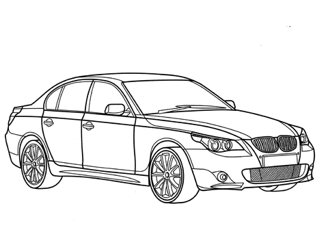 BMW 5 Series  coloring page
