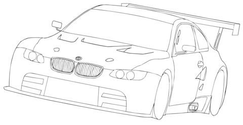 bmw e92 m3 gtr coloring page