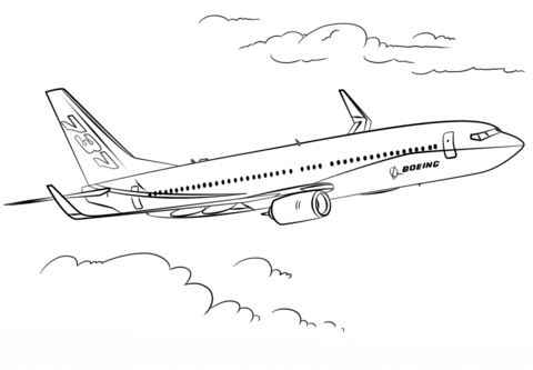 Boeing 737 coloring page