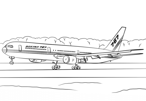 Boeing 767-400ER coloring page