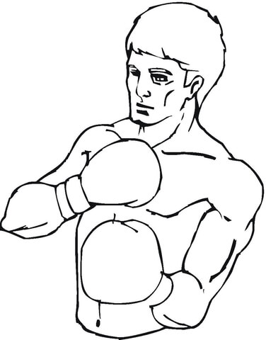 the boxer winner coloring page boxer coloring page
