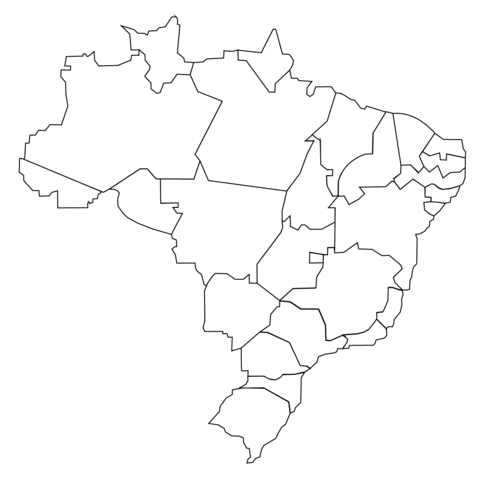 Brazilian Provinces Map coloring page