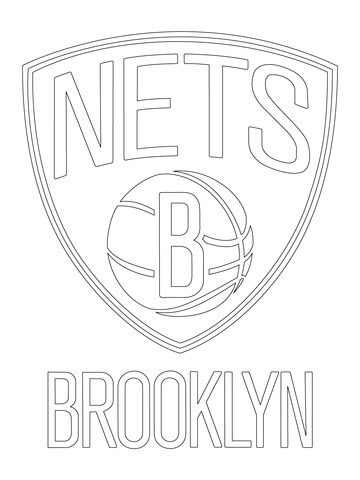 Brooklyn Nets Logo Coloring Page
