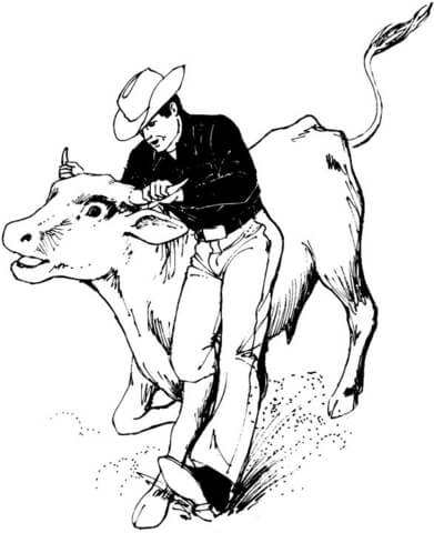 Bucking Bull Coloring page