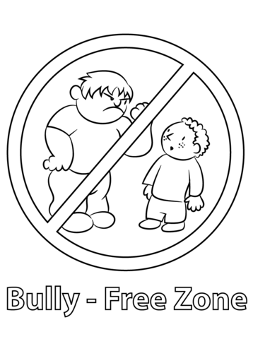 Bully Free Zone coloring page