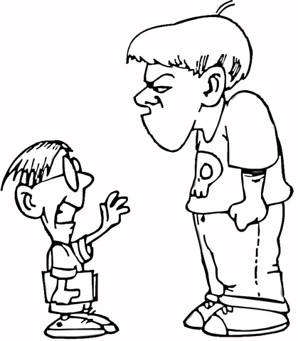 Don't bully. Be a friend.  coloring page