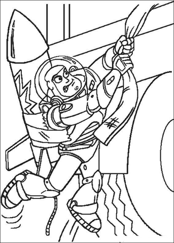 Buzz Lightyear Tries To Go Up coloring page