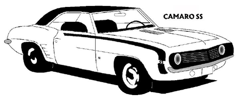 1969 Chevrolet Camaro SS coloring page