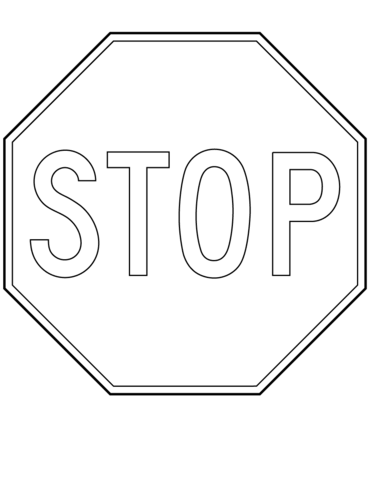 Canada Stop Sign coloring page