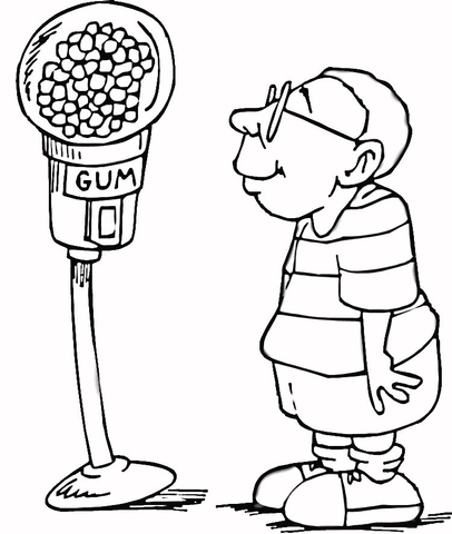 Candy Machine coloring page