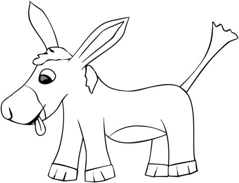 Cartoon Donkey coloring page