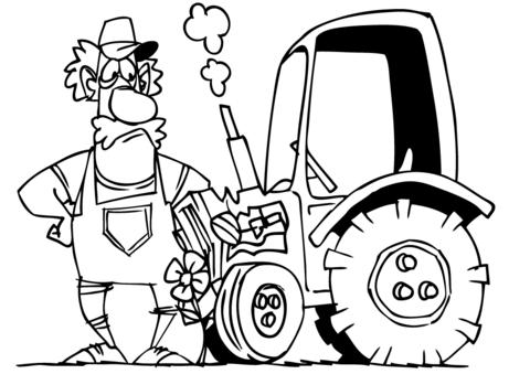 Vintage Farm Tractor Coloring Page Free Printable Coloring Pages - Farm-tractor-coloring-pages