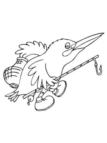 Kingfisher Bird Coloring Page