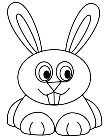 Cute Cartoon Rabbit Coloring Page