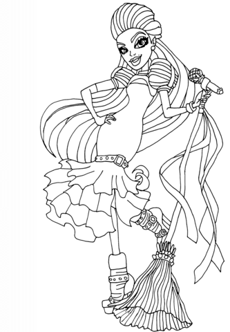 Casta Fierce Coloring page
