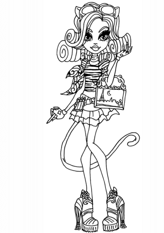 Catherine de Mew coloring page