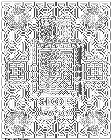 Celtic Knot Pattern coloring page