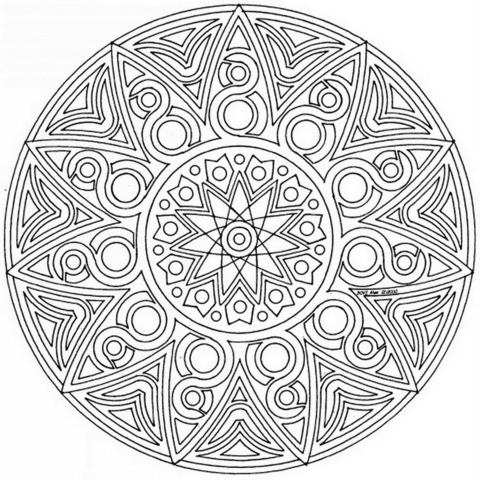 Celtic Mandala coloring page