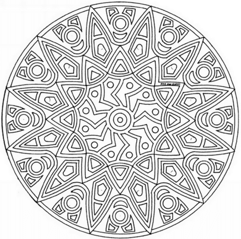 Celtic Mandala with Flower coloring page
