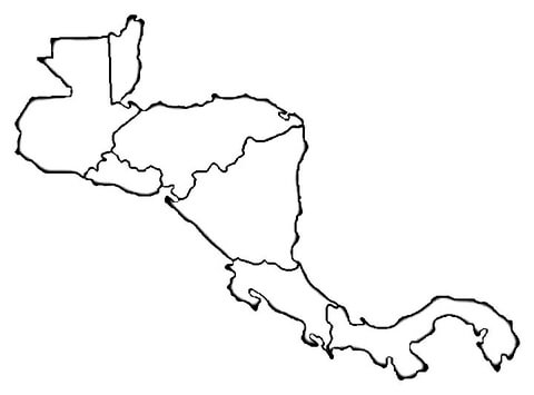 photo relating to Printable Maps of Central America identified as Map of Central The usa coloring web page - Free of charge Printable
