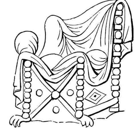 Chair With Nice Covering  coloring page