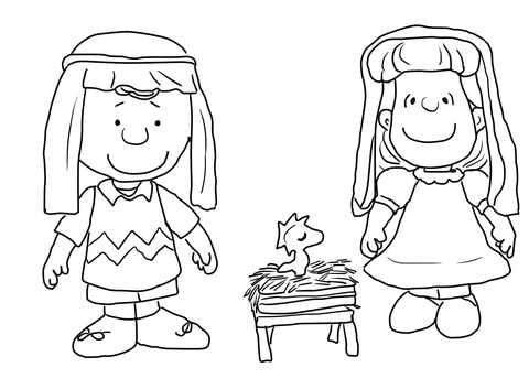 Charlie Brown, Lucy and Linus coloring page - Free Printable ...