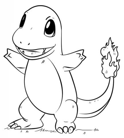 Ekans Coloring Page; Charmander Pokemon Coloring Page