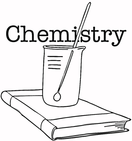 Imagenes Sobre La Quimica Para Colorear Dibujo de Clase de química