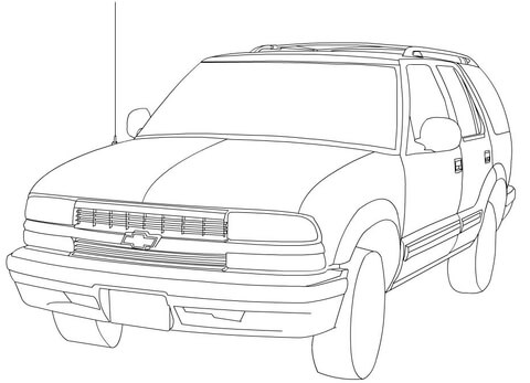 Chevrolet Blazer coloring page - Free Printable Coloring Pages