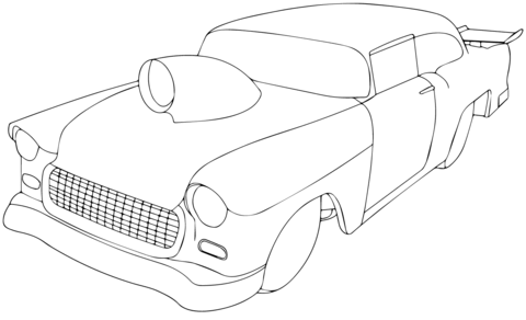 1955 Chevy Pro Sportsman coloring page