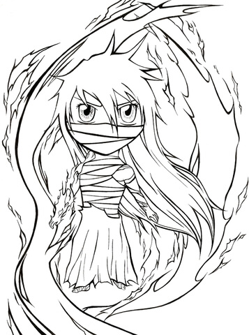 Chibi Mugetsu from Manga Bleach coloring page