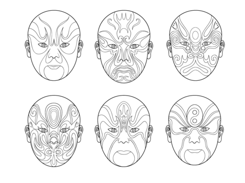 African Masks coloring page - Free Printable Coloring Pages