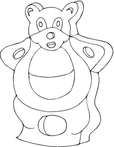 Chocolate Teddy Bear  coloring page