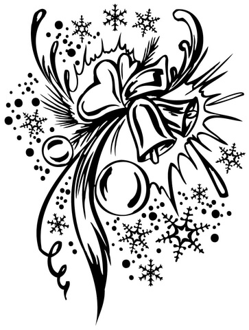 Christmas Composition  coloring page