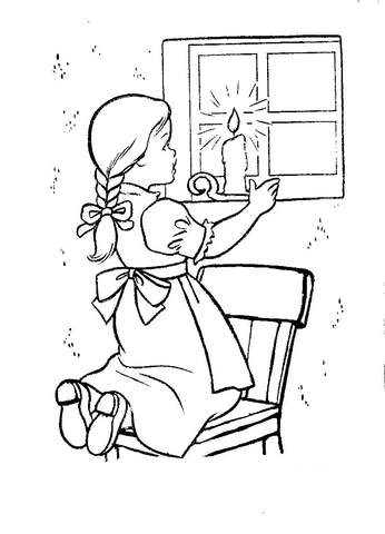 Christmas Eve In Ireland  coloring page