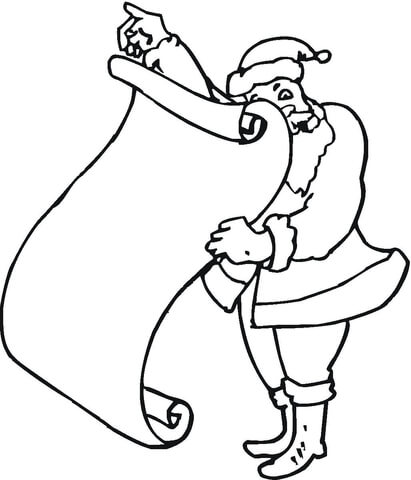 Christmas List coloring page - Free Printable Coloring Pages