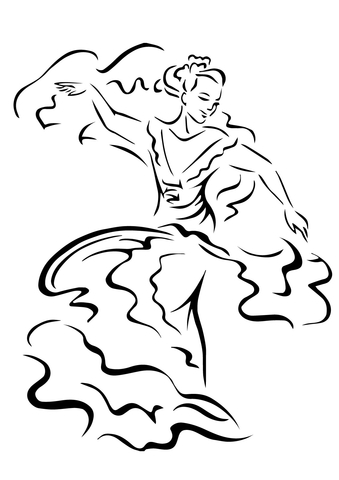 Cinco de Mayo Dancer coloring page